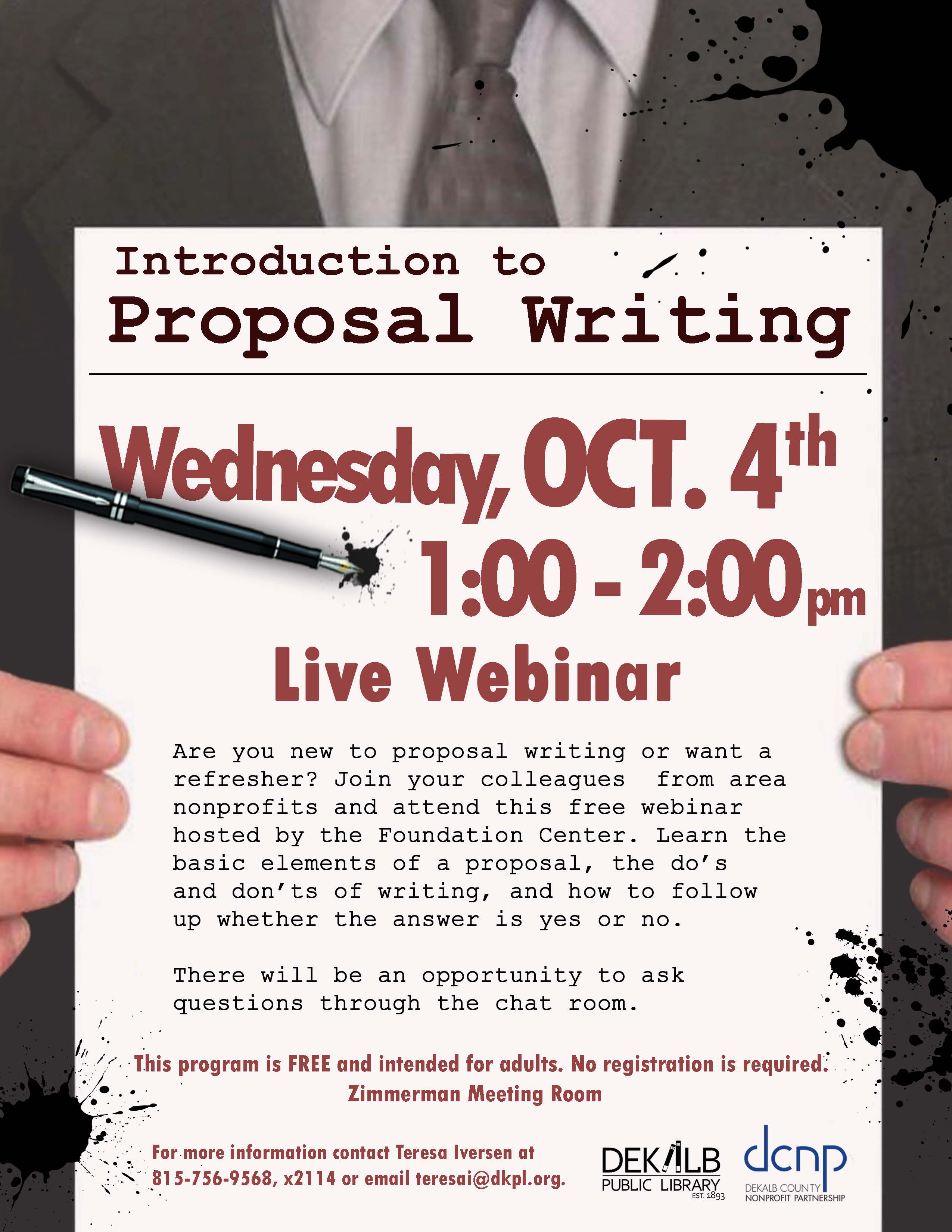 2017-10-04 Intro to Proposal Writing